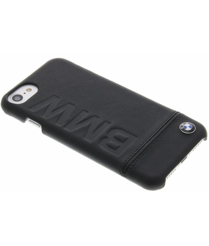 BMW Real Leather Hard Case iPhone 7 - Zwart