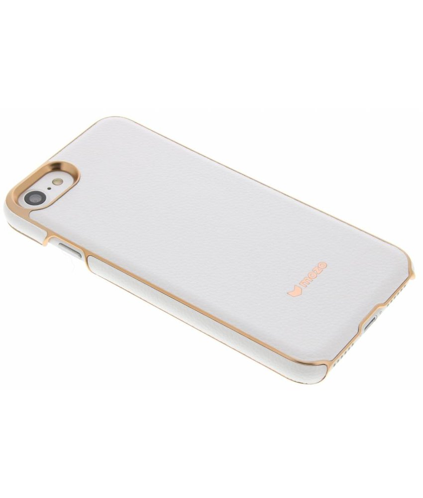 Mozo Leather Back Cover iPhone 7 - Wit