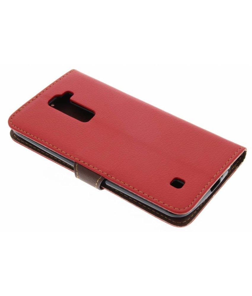 Rood blad design TPU booktype hoes LG K10