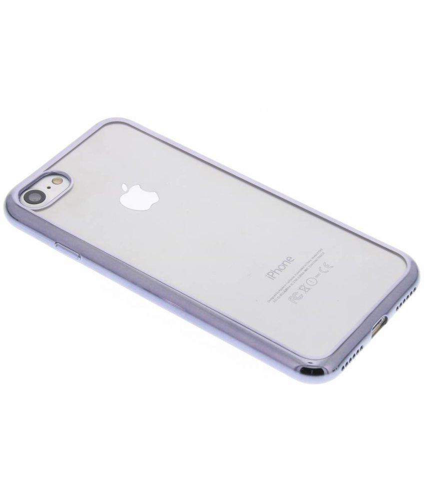 Donkergrijs TPU hoesje met metallic rand iPhone 7