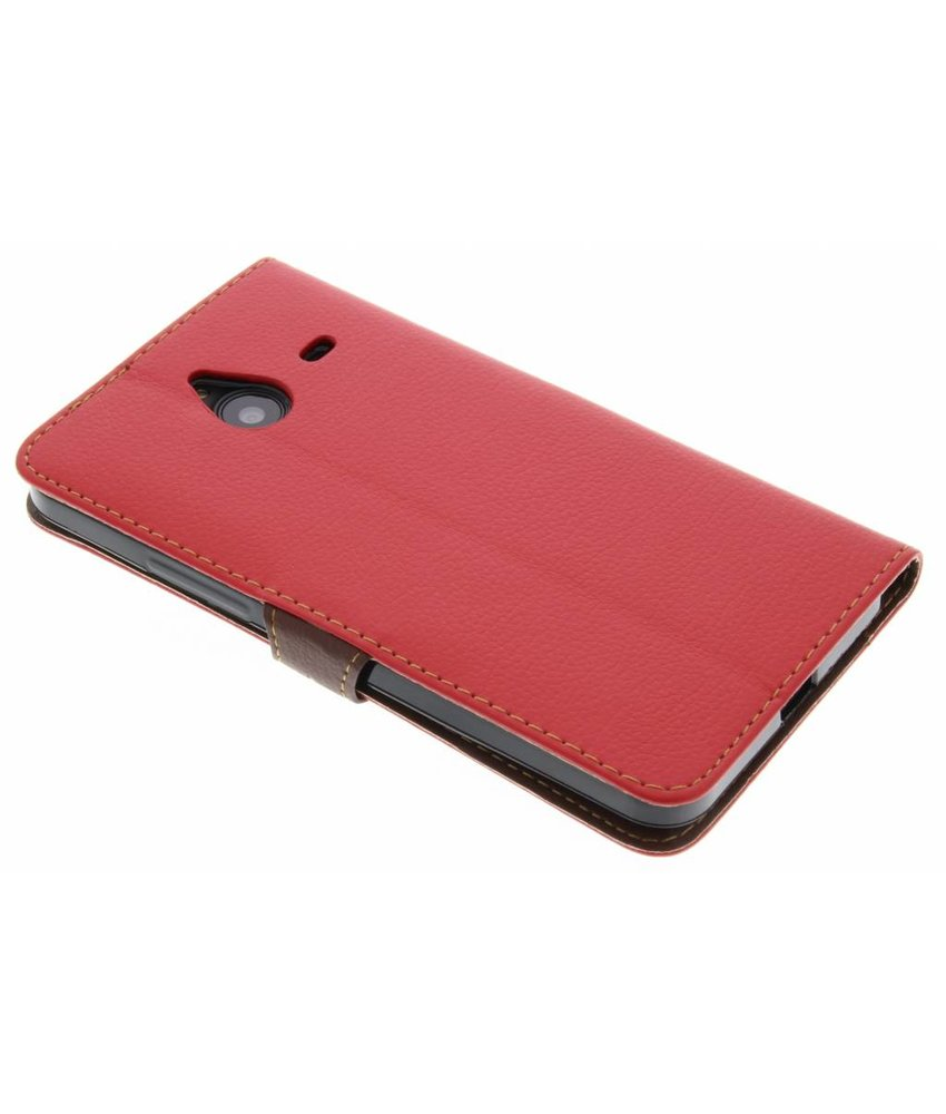 Rood blad design booktype hoes Microsoft Lumia 640 XL