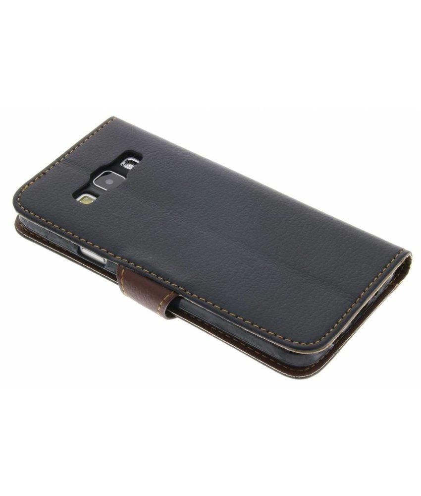 Zwart blad design TPU booktype hoes Samsung Galaxy A3