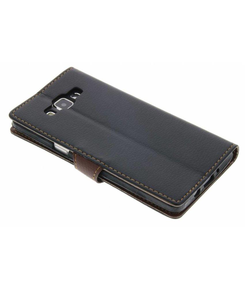 Zwart blad design TPU booktype hoes Samsung Galaxy A5