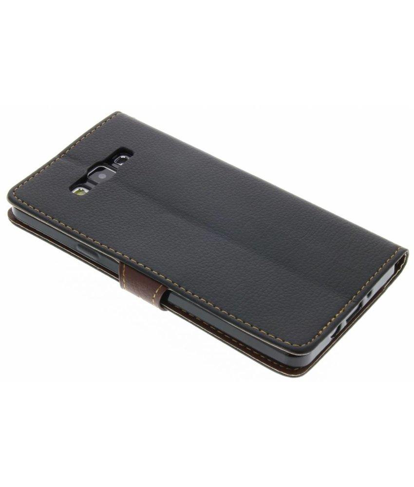 Zwart blad design TPU booktype hoes Samsung Galaxy A7