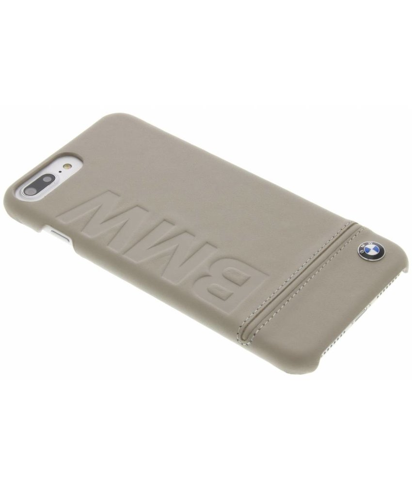 BMW Real Leather Hard Case iPhone 8 Plus / 7 Plus - Taupe