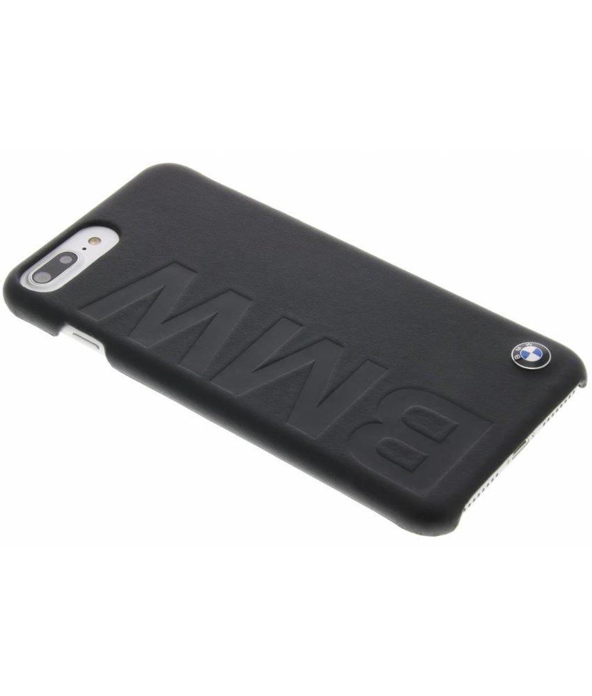 BMW Real Leather Hard Case iPhone 7 Plus - Zwart