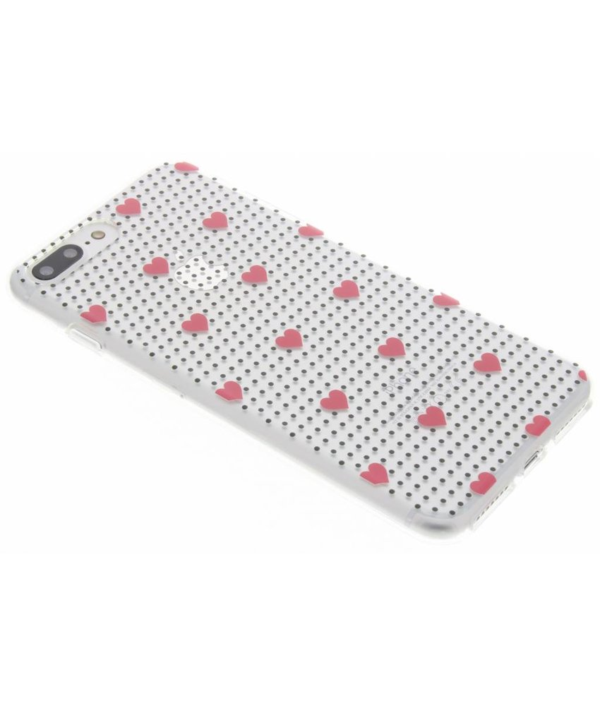 Dots and hearts design TPU hoesje iPhone 8 Plus / 7 Plus