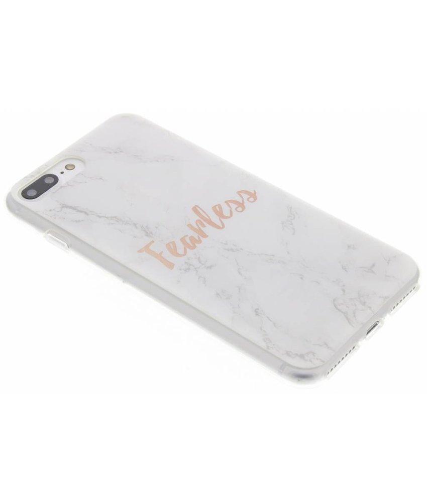 Quote design TPU hoesje iPhone 8 Plus / 7 Plus