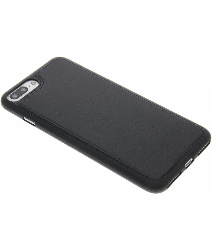 Zwart lederen TPU case iPhone 7 Plus