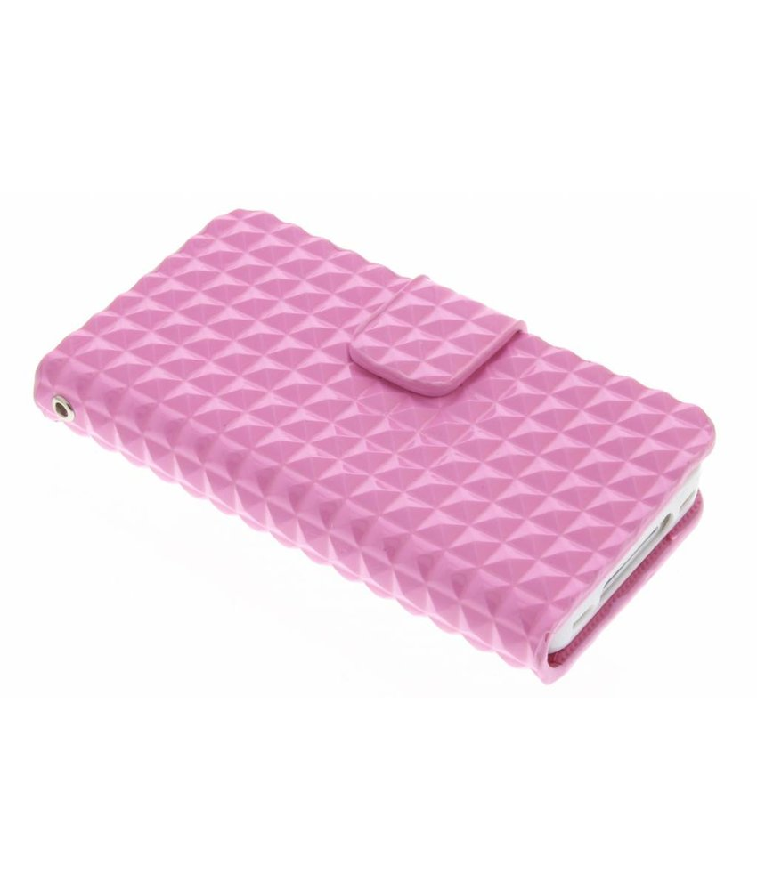 Roze TPU studs booktype hoes iPhone 4/4s