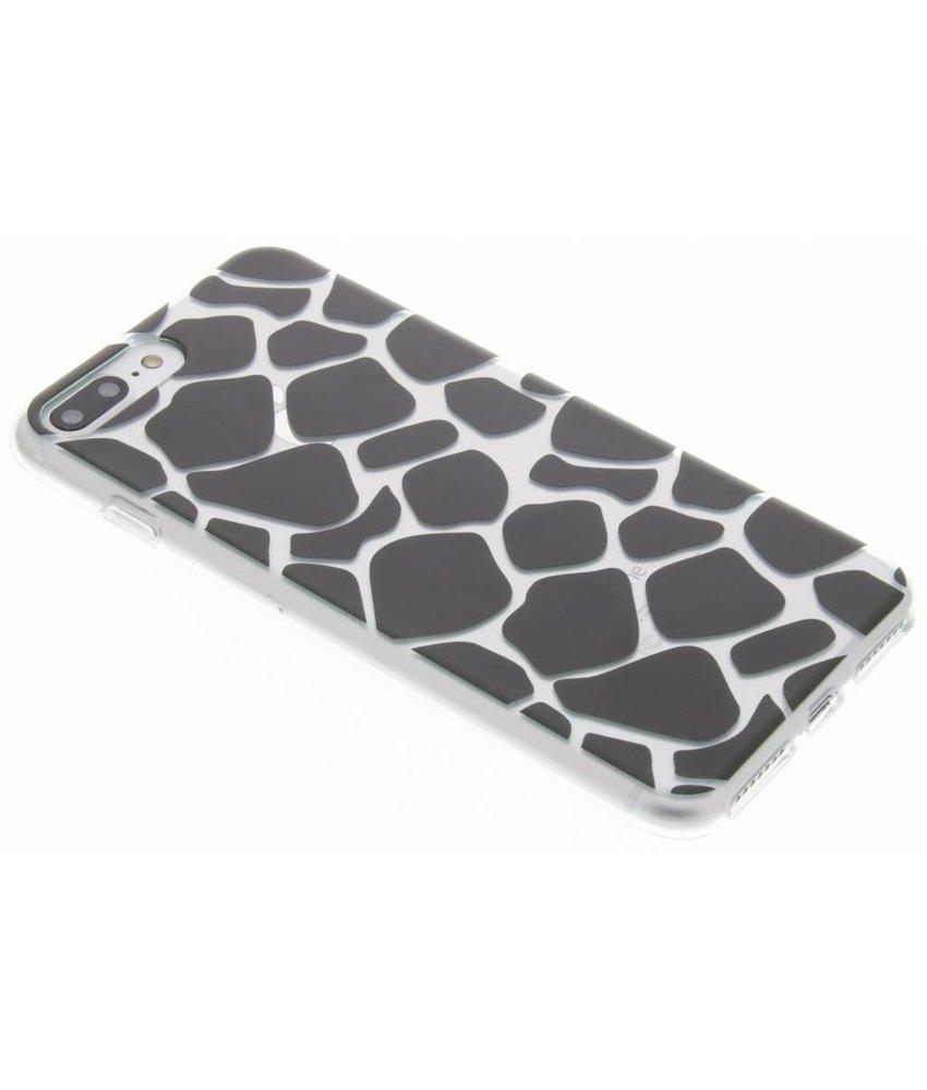 Dierenprint design Giraffe TPU hoesje iPhone 8 Plus / 7 Plus