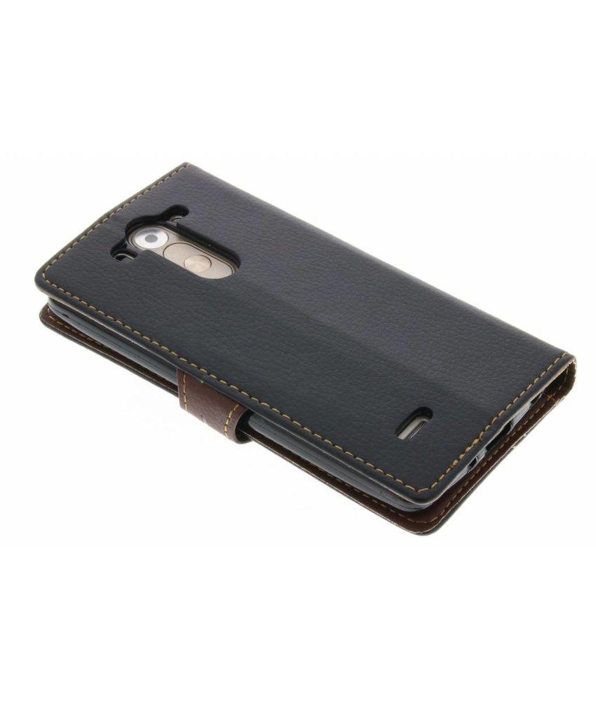 Zwart blad design TPU booktype hoes LG G3 S