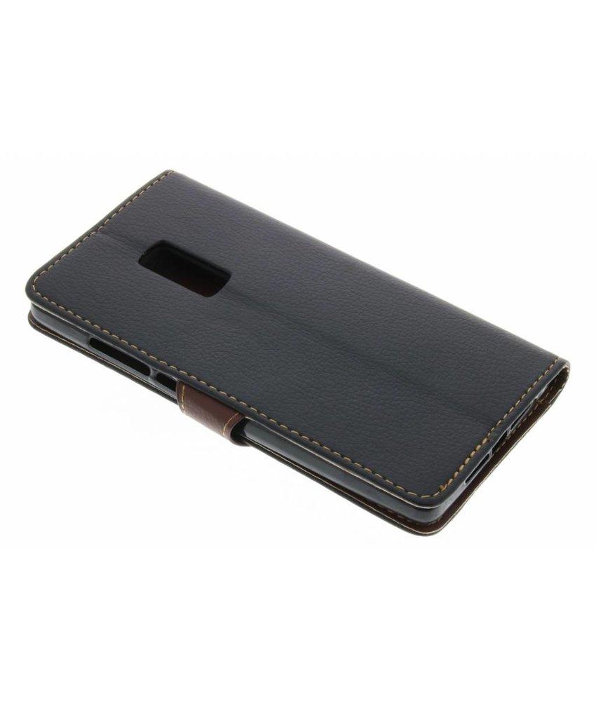 Zwart blad design TPU booktype hoes OnePlus 2