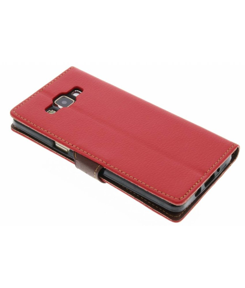 Rood blad design TPU booktype hoes Samsung Galaxy A5