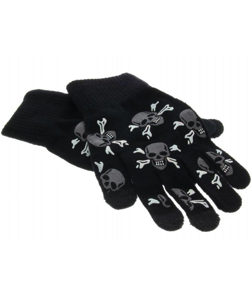 Doodshoofden design touchscreen handschoenen