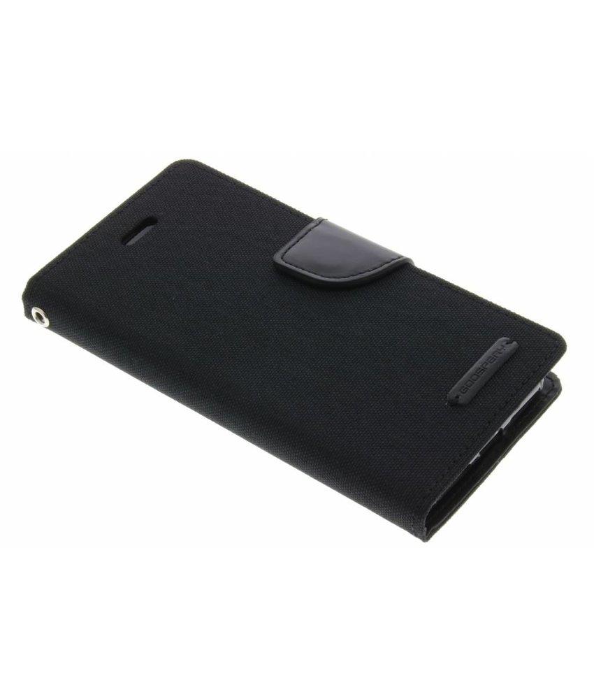 Mercury Goospery Canvas Diary Case iPhone 7 - Zwart
