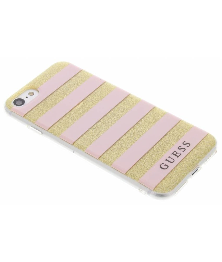 Guess Stripes Gel Case iPhone 7 - Roze