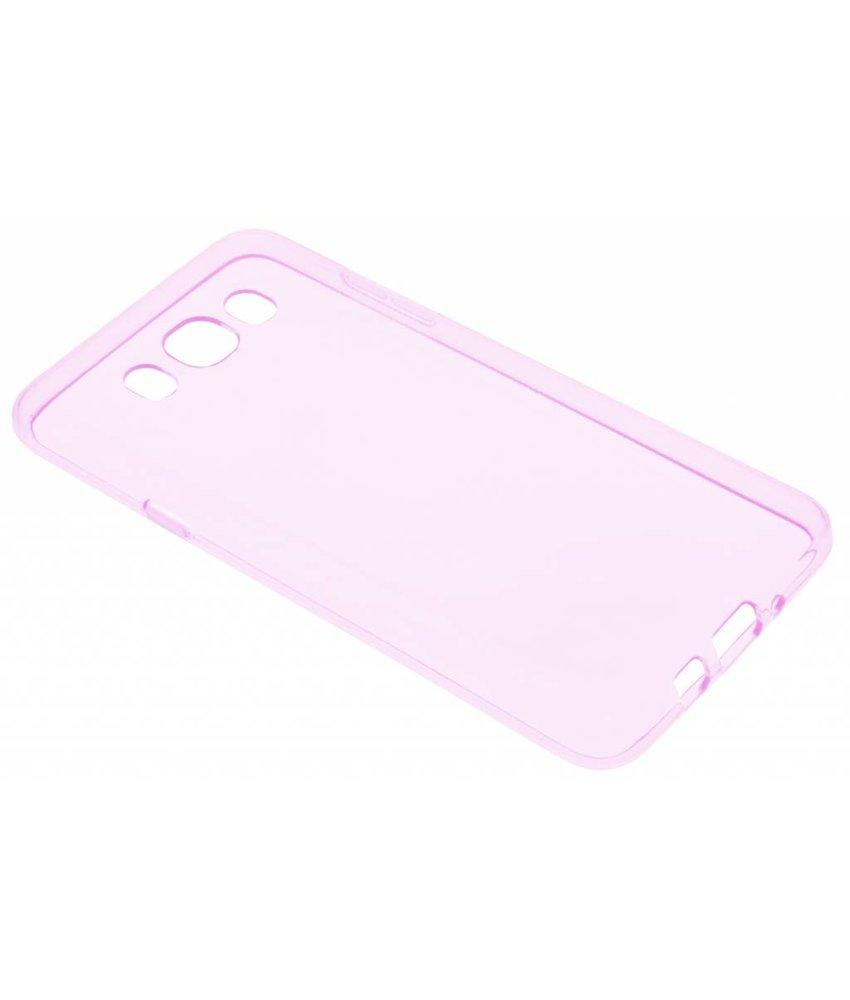 Roze transparant gel case Samsung Galaxy J7 (2016)