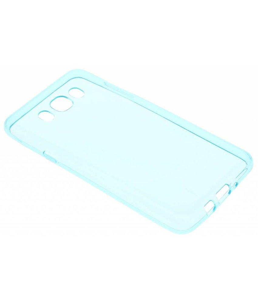 Turquoise transparant gel case Samsung Galaxy J7 (2016)