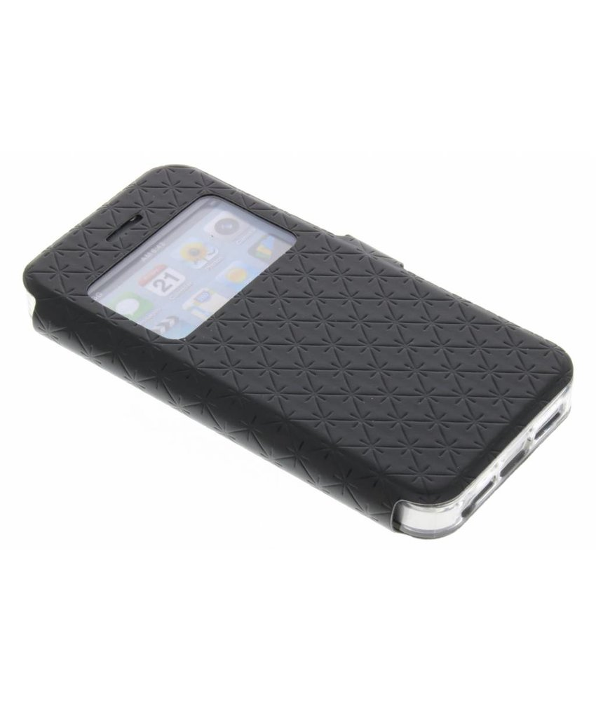 Zwart Rhombus hoesje iPhone 5 / 5s / SE