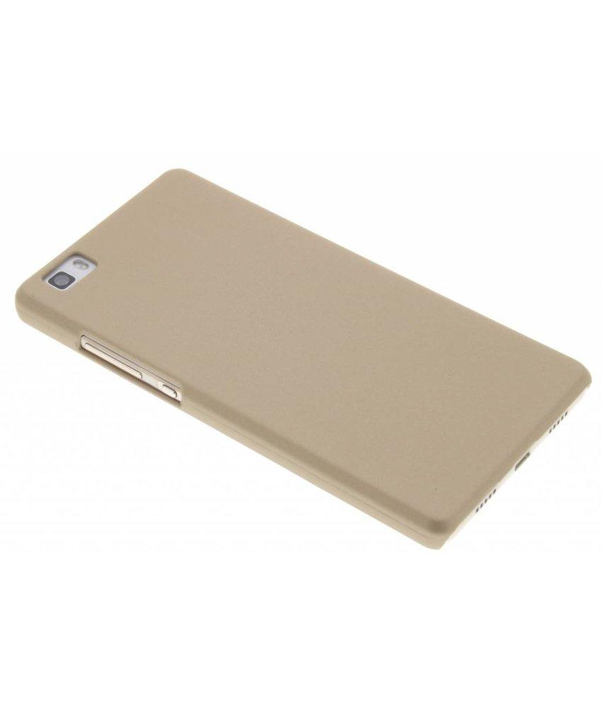 Goud effen hardcase hoesje Huawei P8 Lite