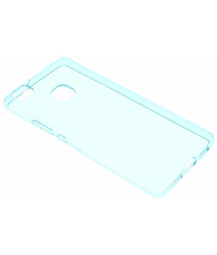 Turquoise transparant gel case Huawei P9 Lite