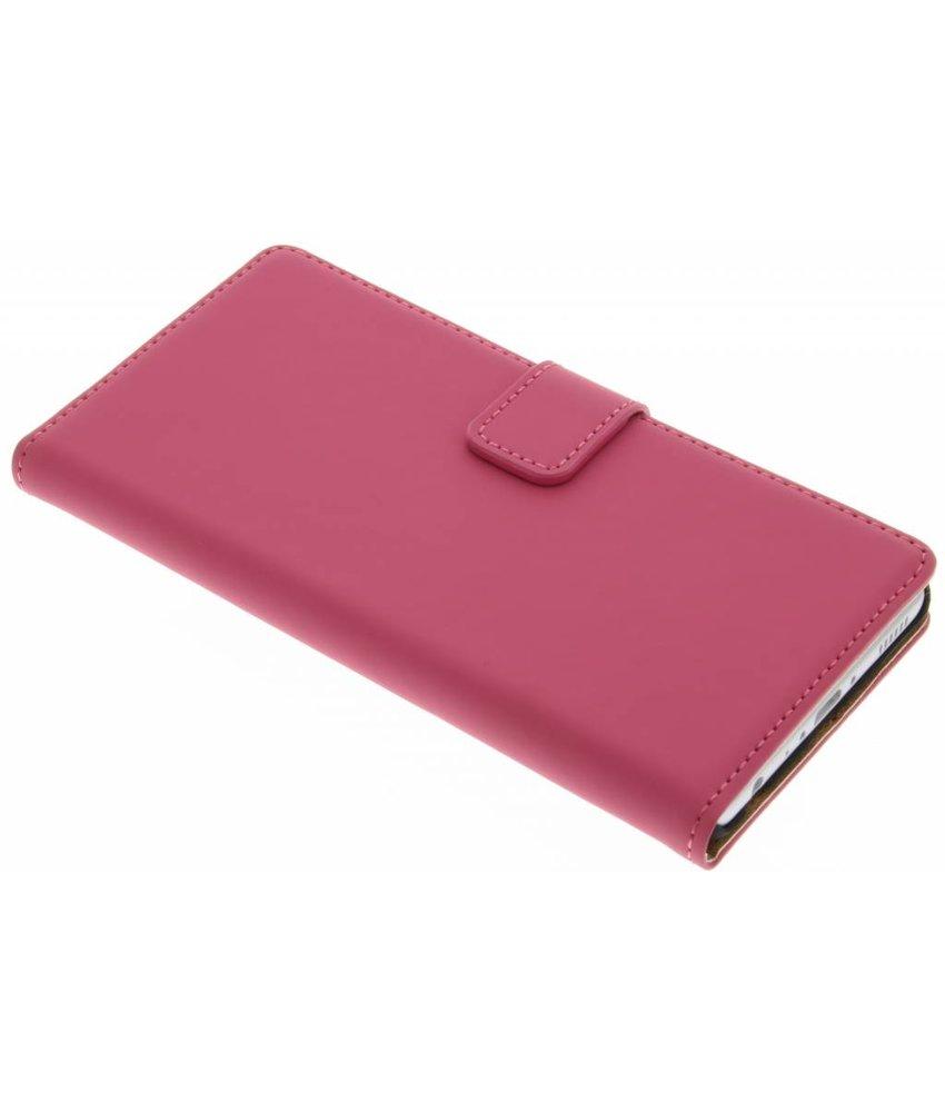 Selencia Luxe Book Case Huawei P9 - Fuchsia