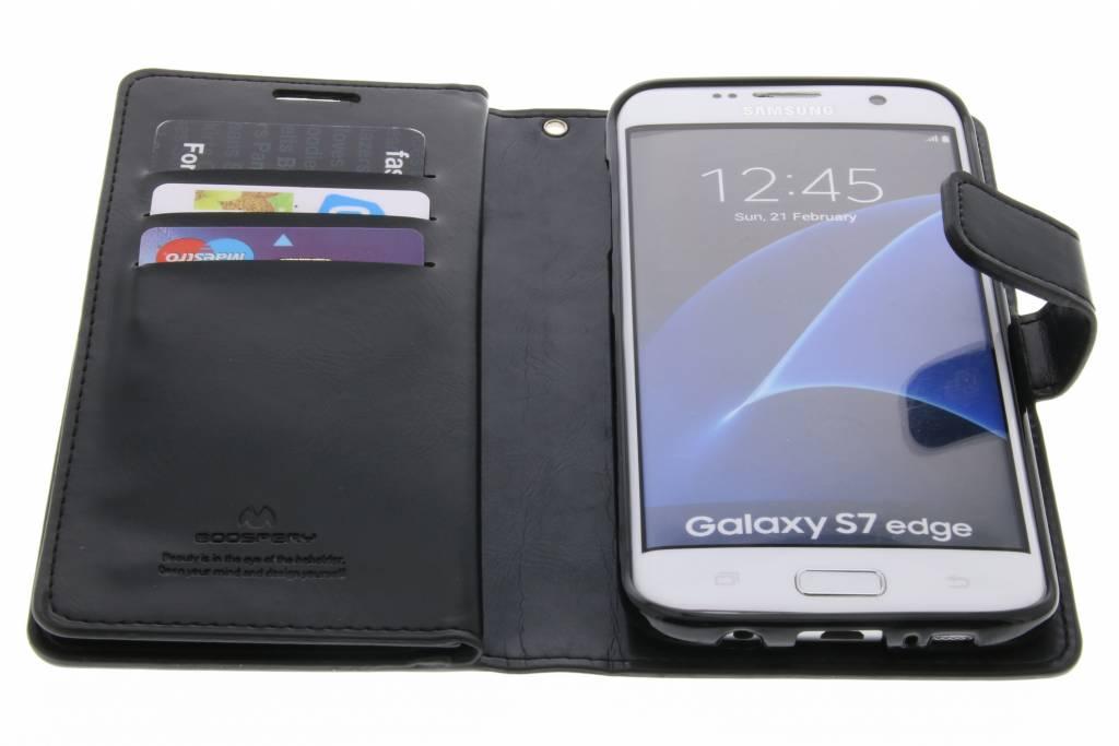 Cas Mansoor Journal De Portefeuille Pour Bord De Samsung Galaxy S - Noir AayIlN8o