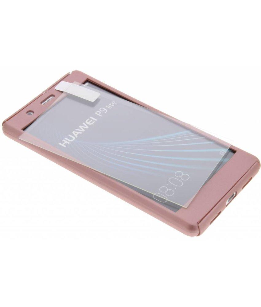 Roze 360° effen protect case Huawei P9 Lite