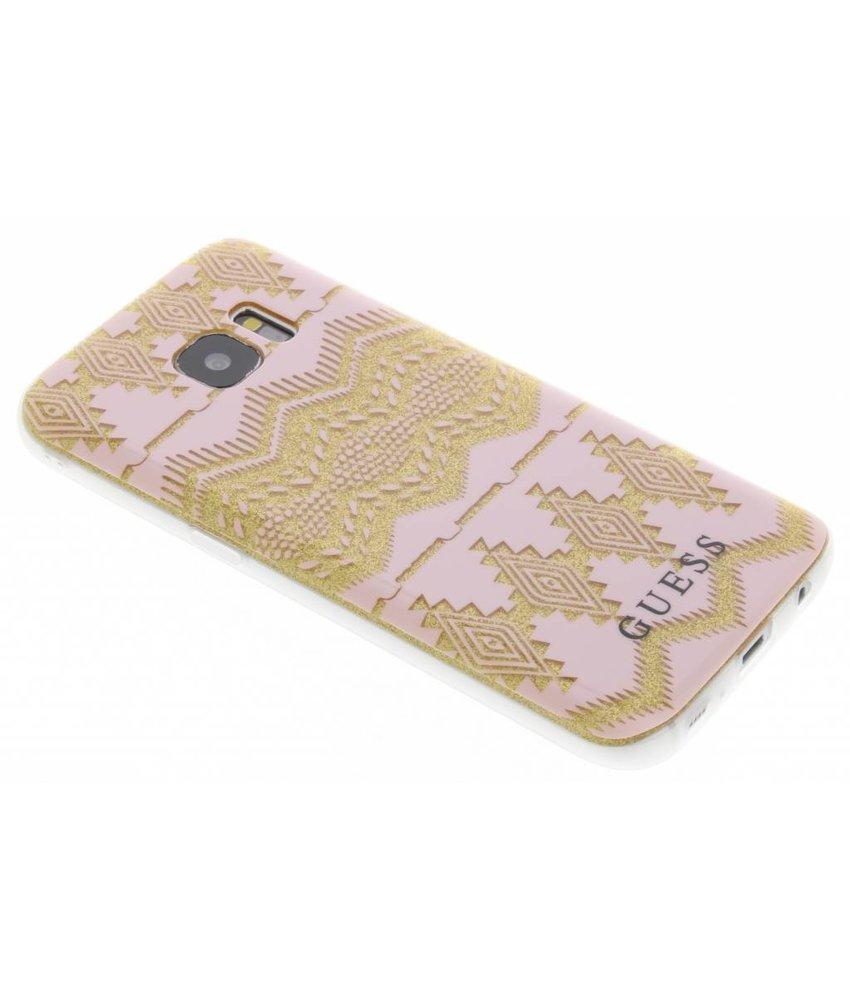 Guess Tribal Gel Case Samsung Galaxy S7 - Roze
