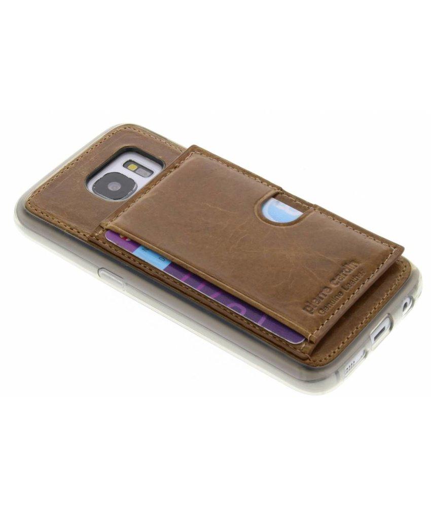 Pierre Cardin Silicone Case Samsung Galaxy S7 - Bruin