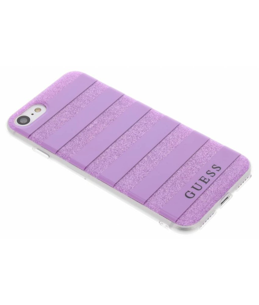 Guess Stripes Gel Case iPhone 8 / 7 - Paars