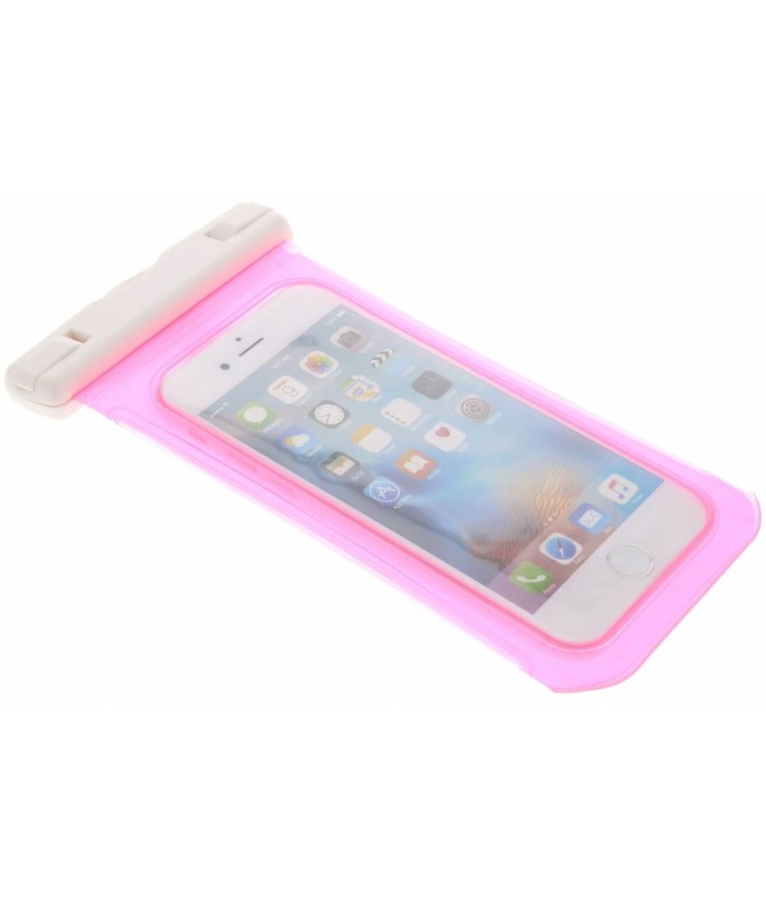 Roze universele waterproof bag maat L
