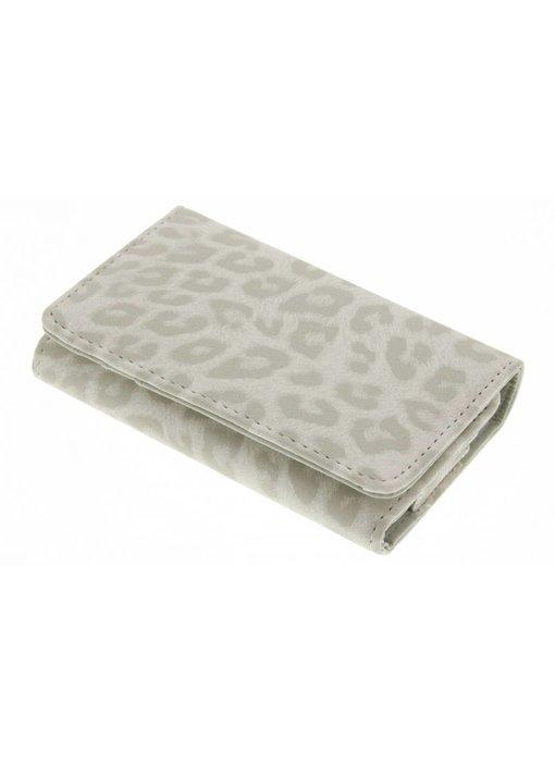Luipaard design portemonnee telefoonhoesje (klein)