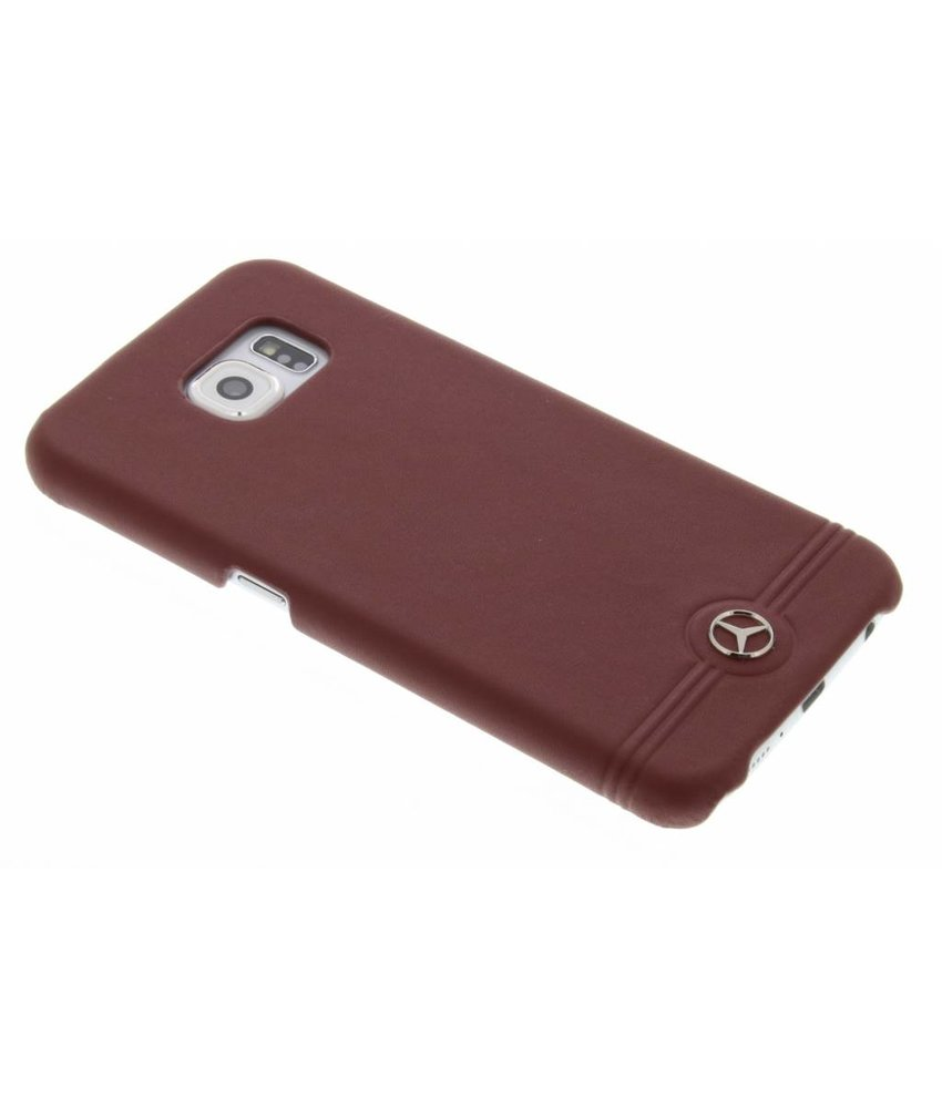 Mercedes-Benz Leather Hard Case Pure Line Galaxy S6 - Rood