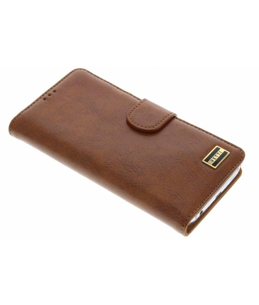 Vetti Craft Booktype Samsung Galaxy S6 - Bruin