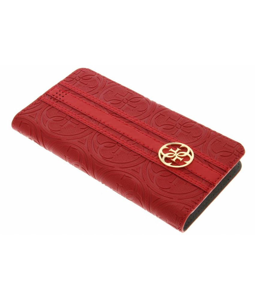 Guess Universele Heritage Booktype Case Maat XL - Rood