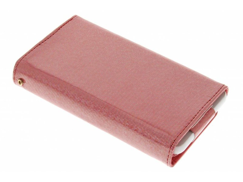 Rood universeel glitter portemonnee hoesje maat M