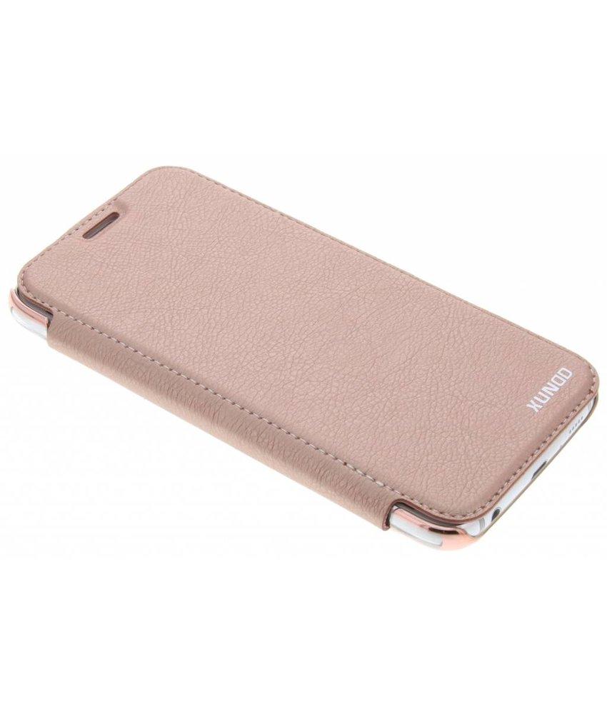 Roze crystal slim book case Samsung Galaxy S6