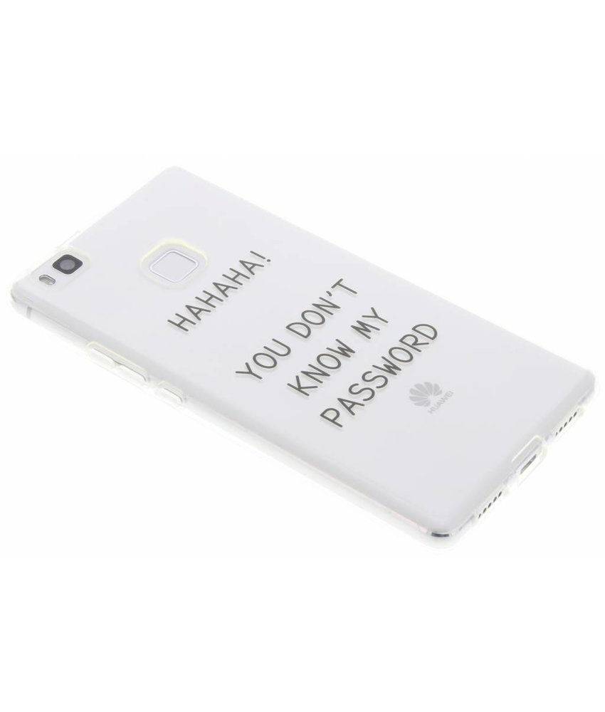 Quote design TPU hoesje Huawei P9 Lite