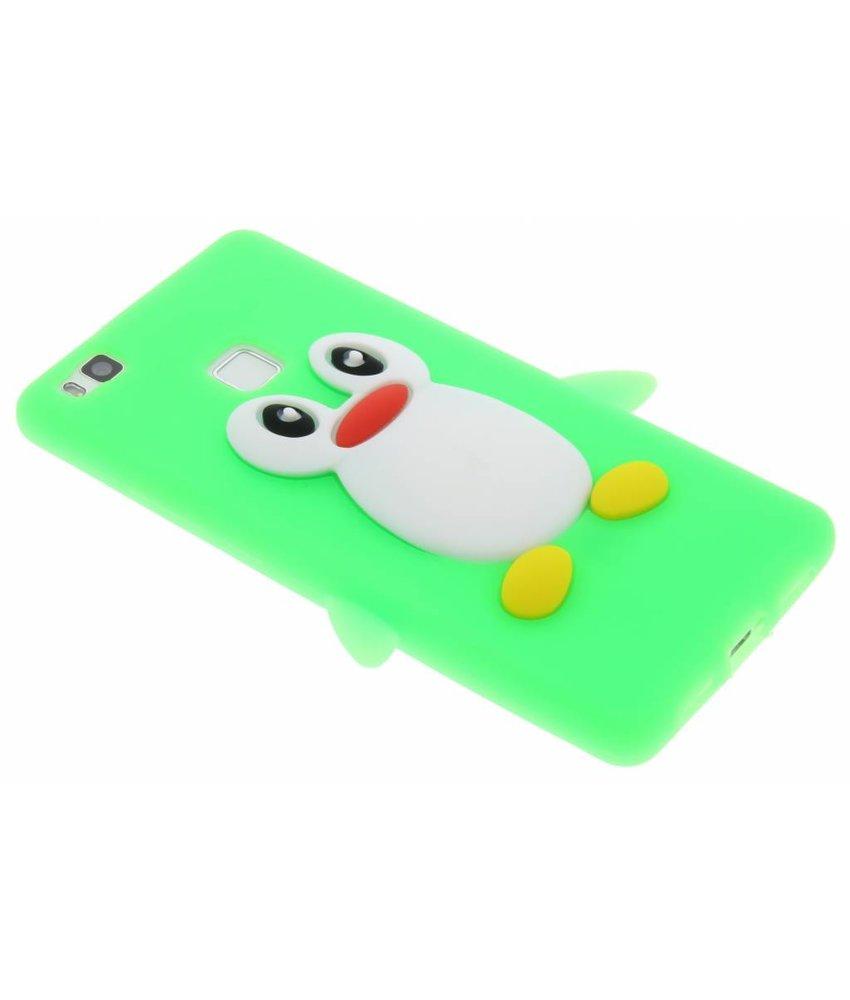 Neon groen pinguin siliconen hoesje Huawei P9 Lite