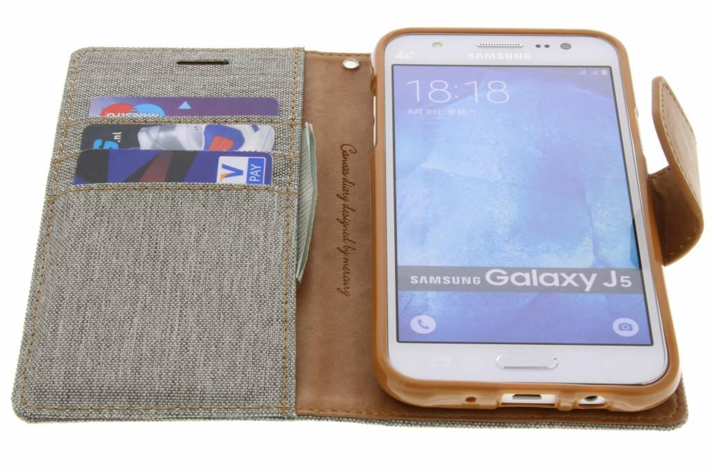 Etui En Toile De Journal Pour Samsung Galaxy J5 - Gris y2ytqlVhE