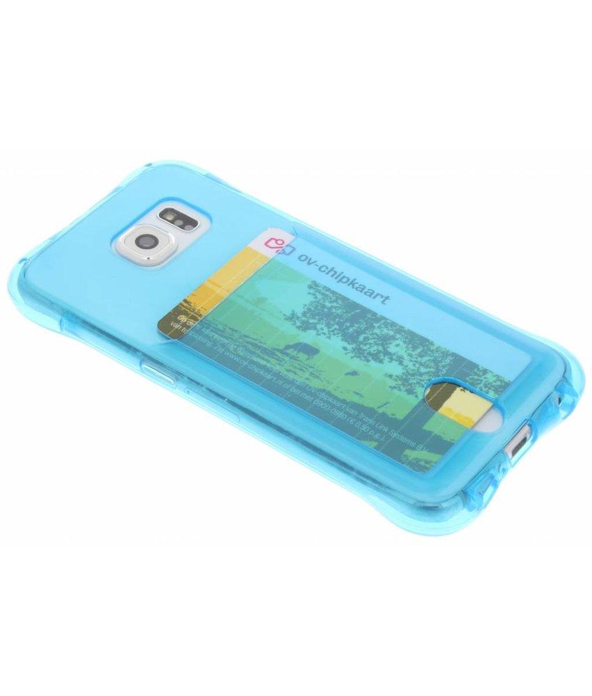 Blauw TPU hoesje met vakje Samsung Galaxy S6