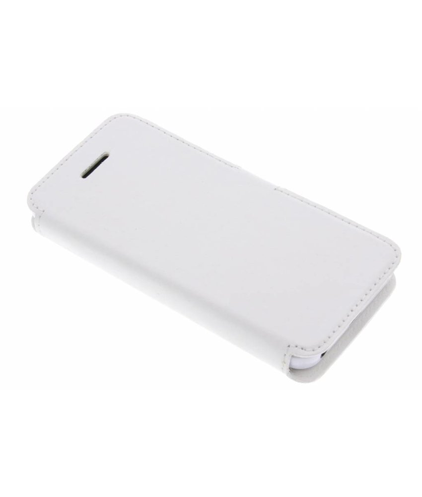 Valenta Wit Booklet Slim Classic iPhone 5 / 5s / SE / 5c