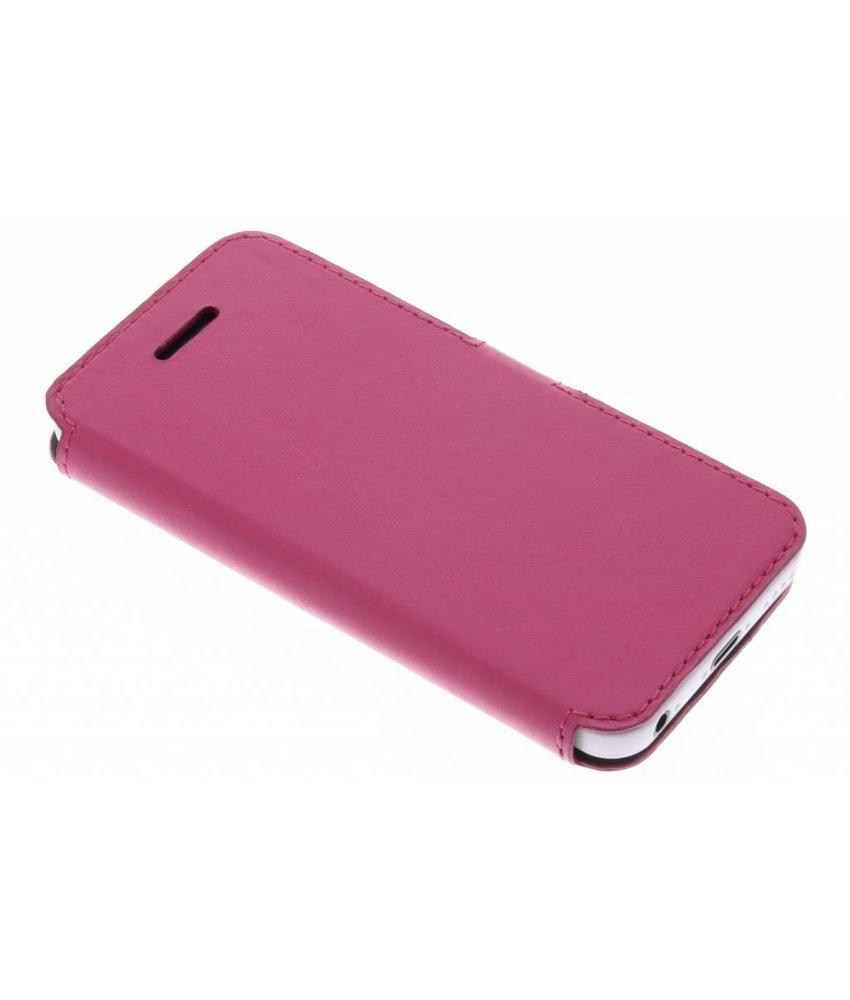 Valenta Fuchsia Booklet Slim Classic iPhone 5 / 5s / SE / 5c
