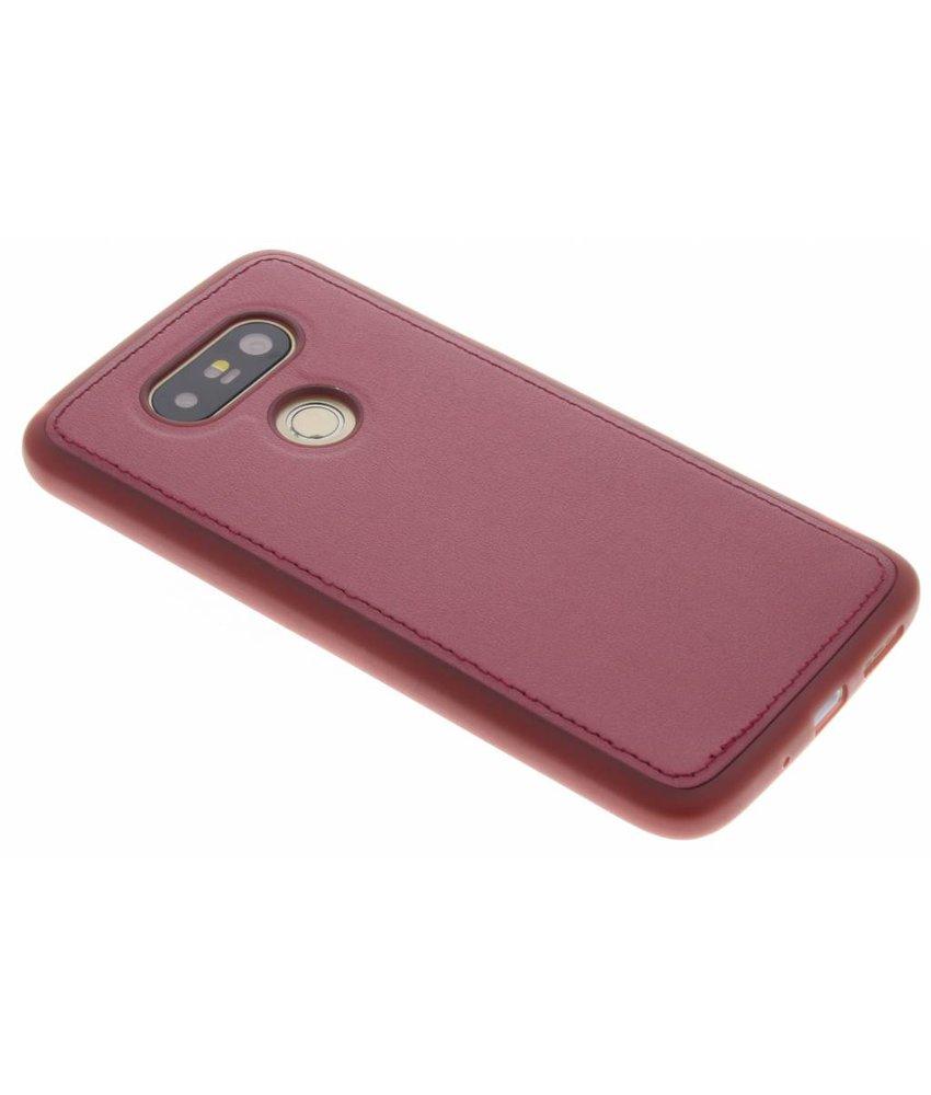 Rood metallic lederen TPU Case LG G5 (SE)