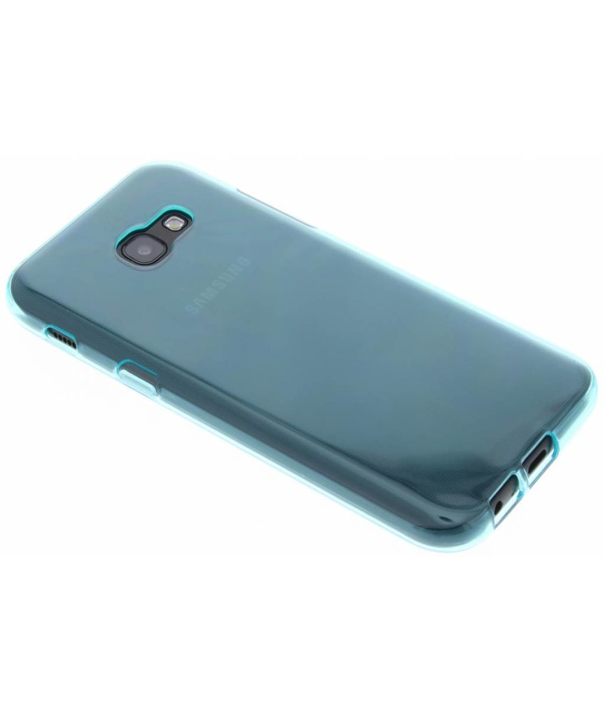 Turquoise transparant gel case Samsung Galaxy A5 (2017)