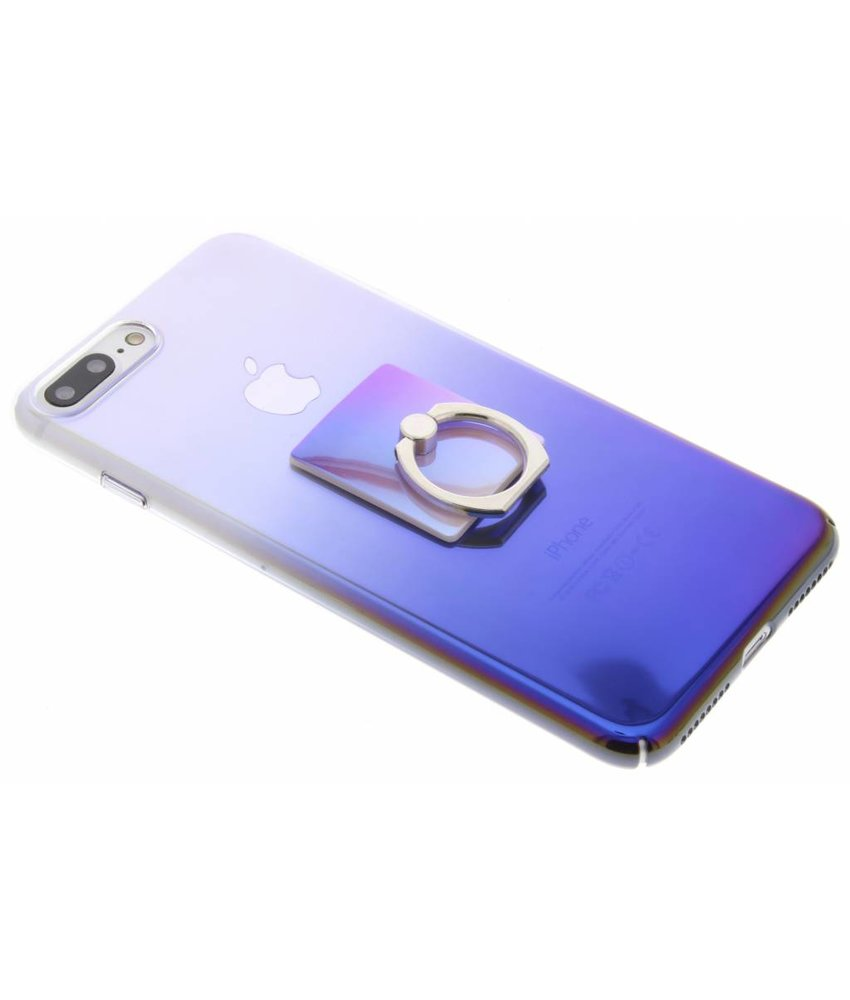 Tweekleurig hardcase hoesje met ring iPhone 8 Plus / 7 Plus