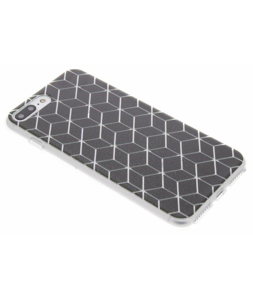 Cubes design TPU hoesje iPhone 7 Plus