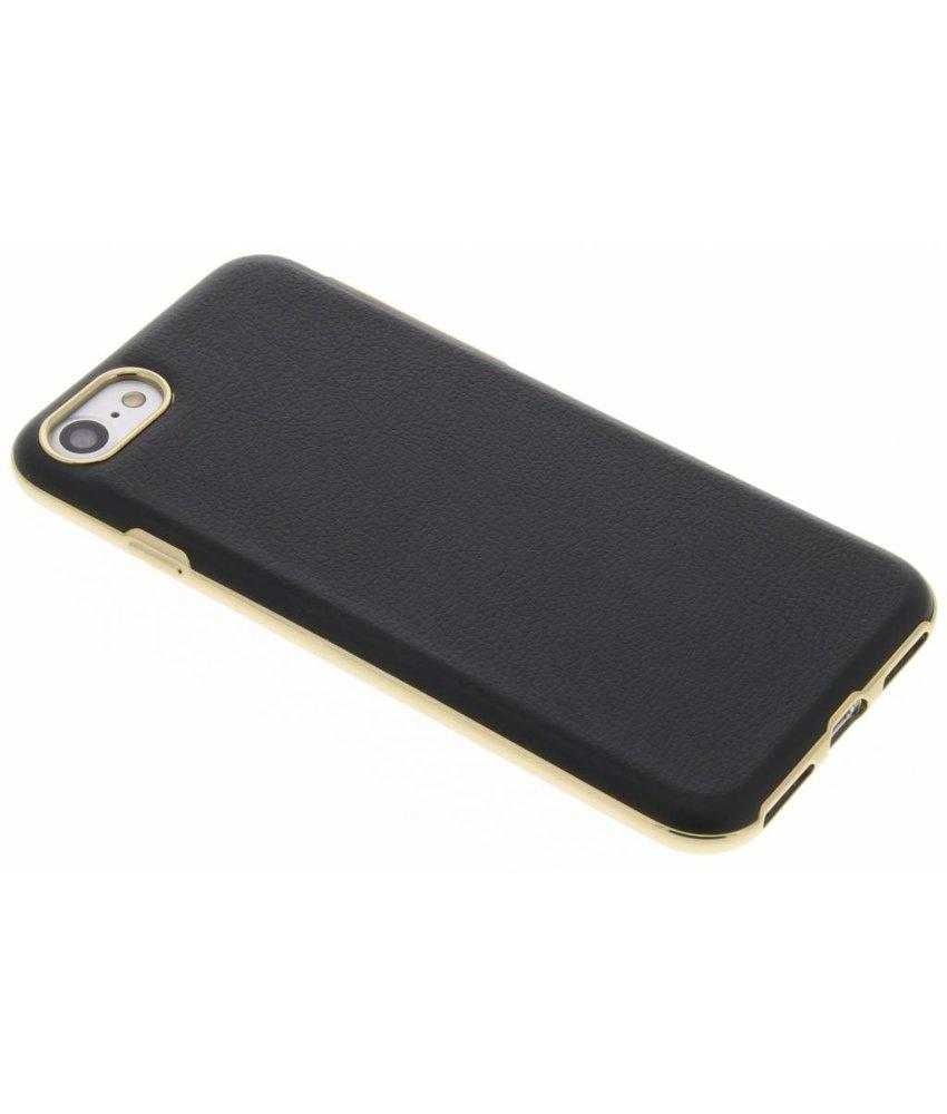 Zwart TPU hoesje met gouden rand iPhone 7